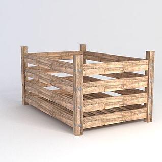 木箱3d模型