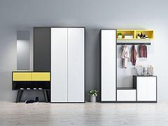 现代鞋柜衣柜模型3d模型