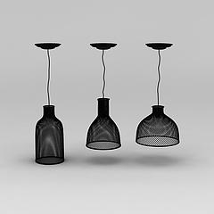 工业风铁艺吊灯模型3d模型