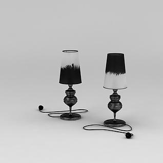 古典台灯3d模型