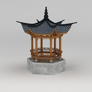 古代亭子3d模型