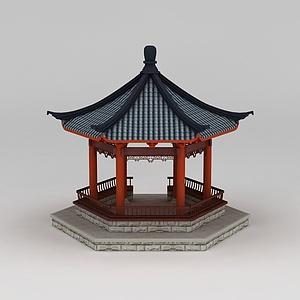 古建亭子模型3d模型