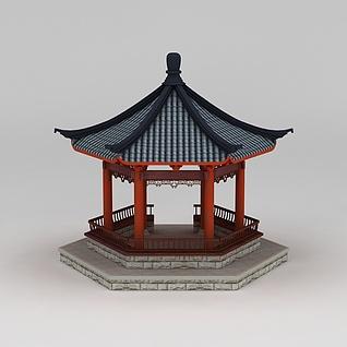 古建亭子3d模型