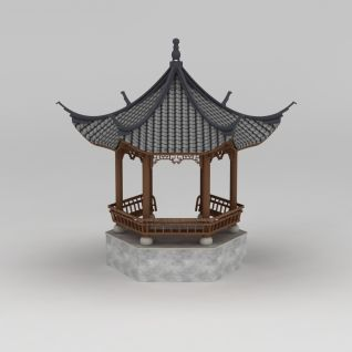 六角亭3d模型