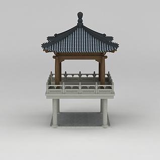 仿古亭子3d模型