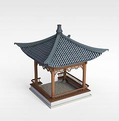 休息亭3D模型3d模型