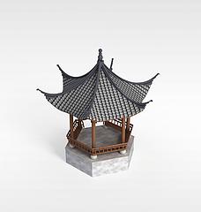 六角亭3D模型3d模型