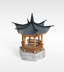 古代亭子3D模型3d模型