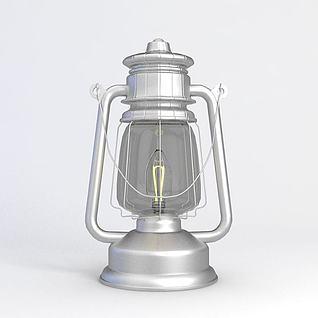 煤油灯3d模型