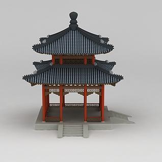 古建亭子3d模型3d模型