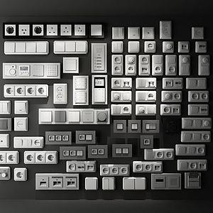 3d开关<font class='myIsRed'>插座</font>模型