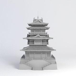 公园阁楼3d模型