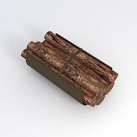 一捆木头模型