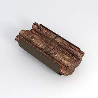 一捆木头3d模型