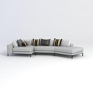 客厅拐角沙发3d模型