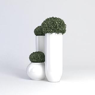 花盆3d模型