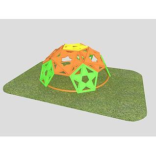 儿童玩具半球攀爬架3d模型