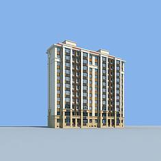 好户型住宅楼3D模型3d模型