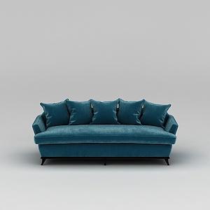藍色長沙發模型
