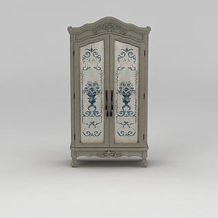 欧式双开门柜子3d模型