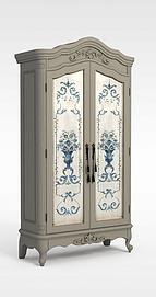 欧式双开门柜子模型