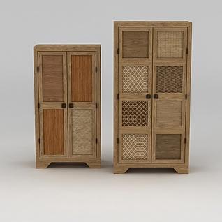 原木柜子3d模型