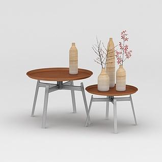 边几花瓶组合3d模型