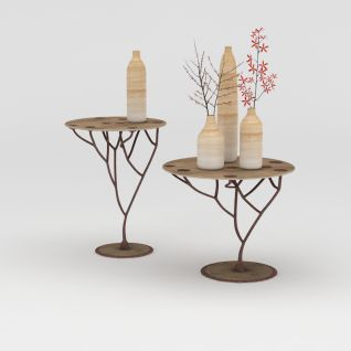 树状边几3d模型