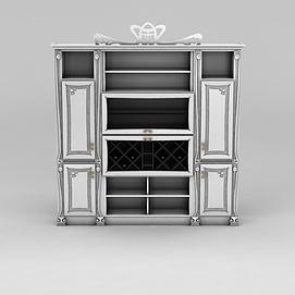 3d餐边柜模型