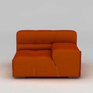 软包沙发3d模型