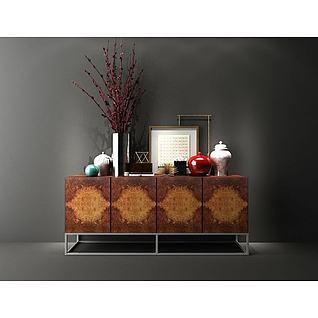玄关装饰柜3d模型