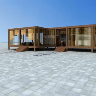 生态厕所3d模型