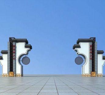 新中式大门
