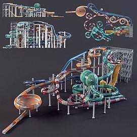 儿童滑梯模型