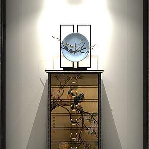 中式玄關柜模型3d模型