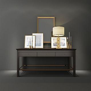 简约装饰柜3d模型