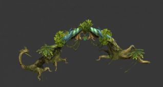 游戏植物模型3d模型