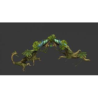 游戏植物3d模型