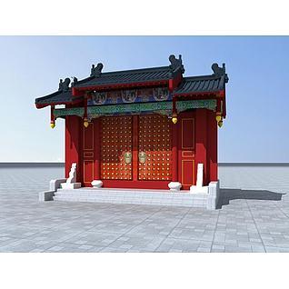 皇家建筑门头3d模型
