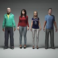 多人3D模型3d模型