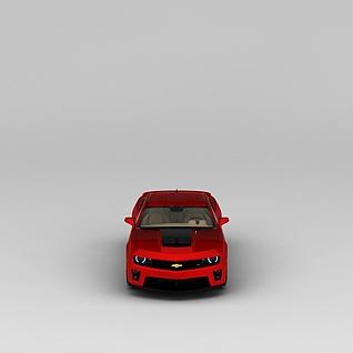 雪佛兰红色汽车3d模型