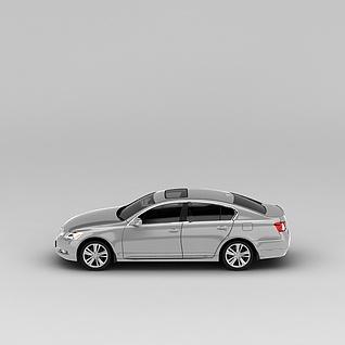 雷克萨斯银色汽车3d模型