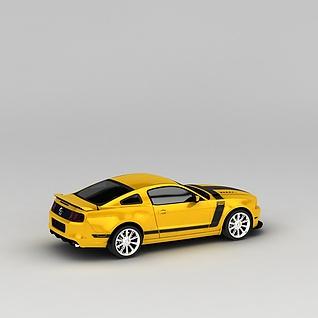 黄色汽车3d模型