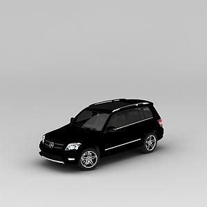 3d奔馳黑色<font class='myIsRed'>汽車</font>模型