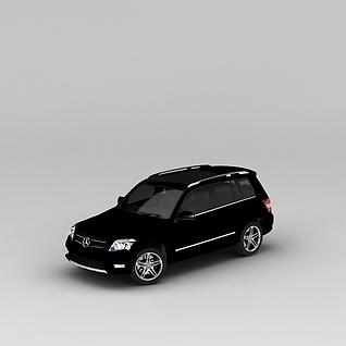 奔驰黑色汽车3d模型