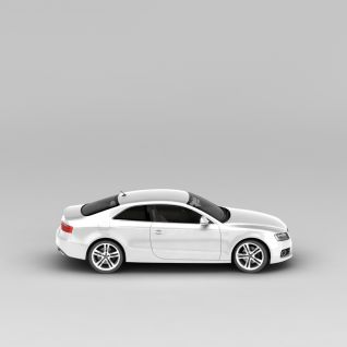 奥迪银色汽车3d模型