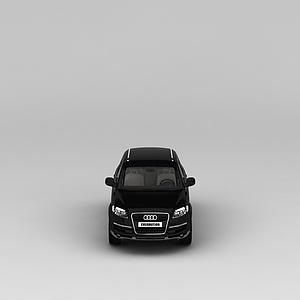 黑色奧迪汽車模型3d模型