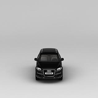 黑色奥迪汽车3d模型3d模型