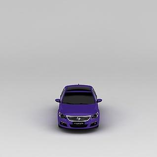 紫色汽车3d模型3d模型