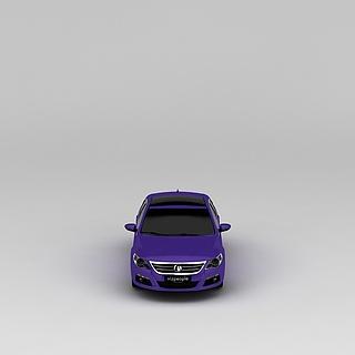 紫色<font class='myIsRed'>汽车</font>3d模型